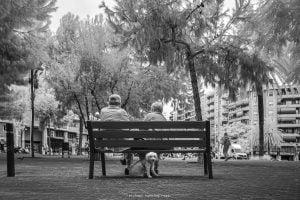 Barcelona - Pause im Park von Michael Henning Rost
