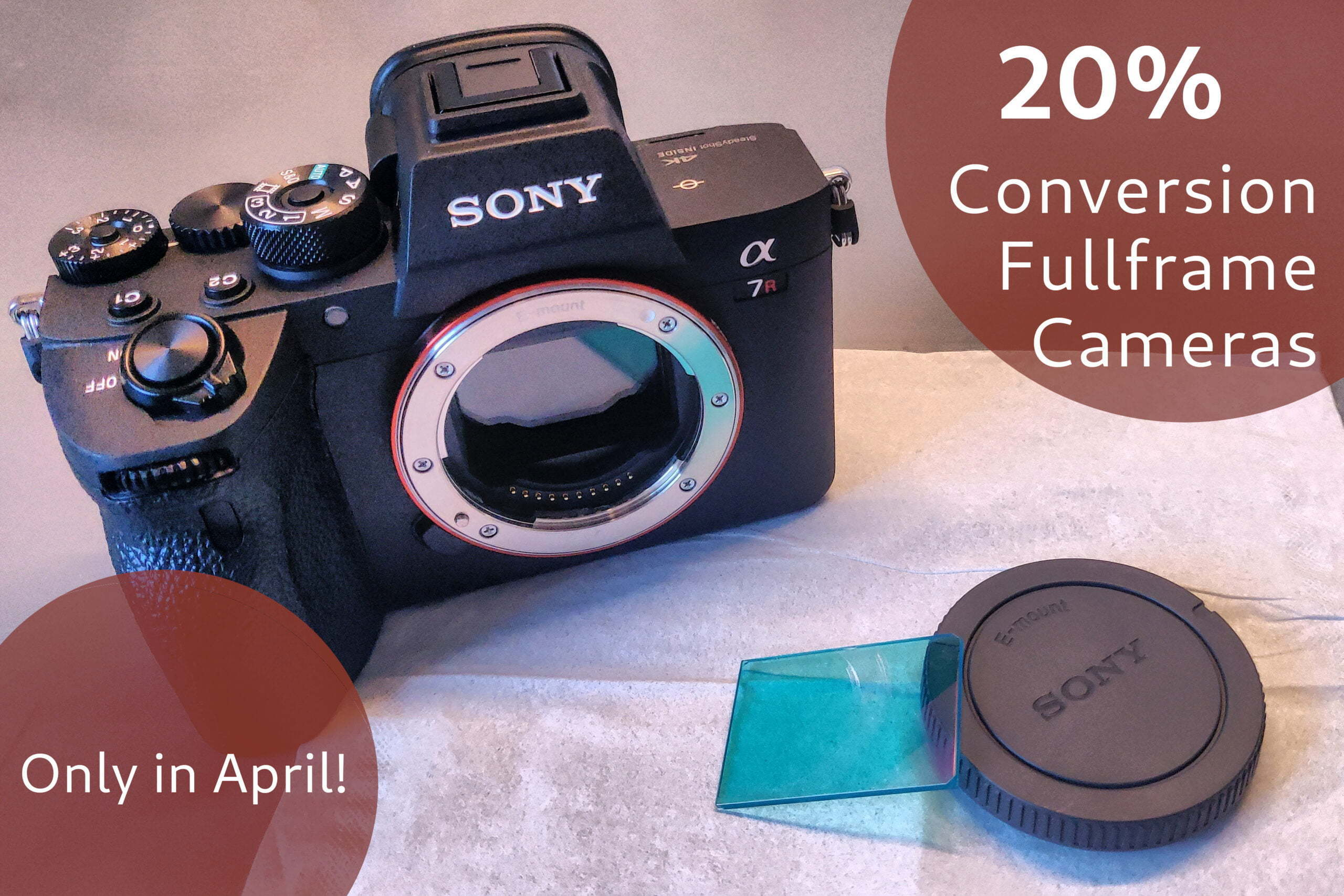 April Discount: 20% off the Conversion Service on all Full Frame Cameras