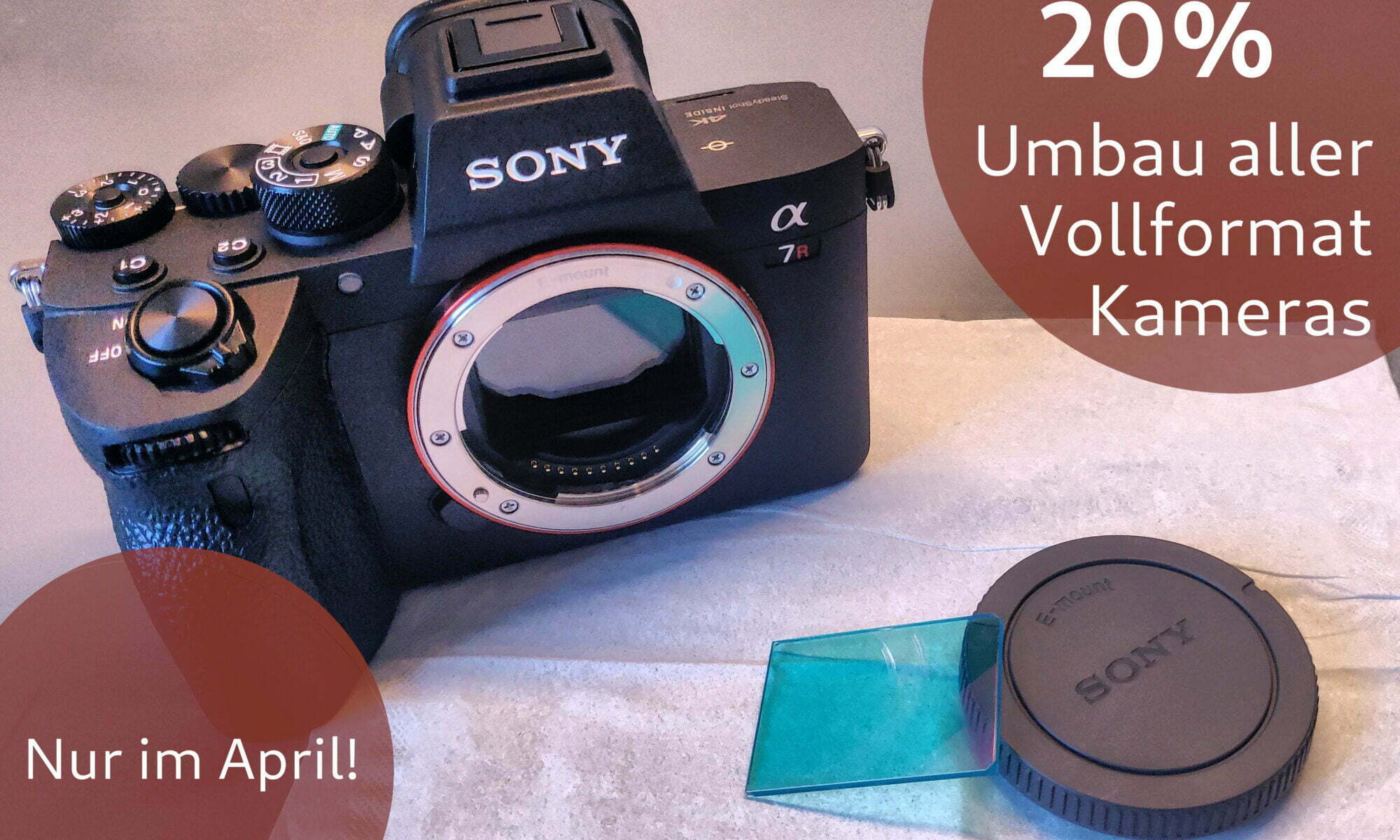 April Rabatt: 20 % auf den Umbauservice bei allen Vollformat Kameras