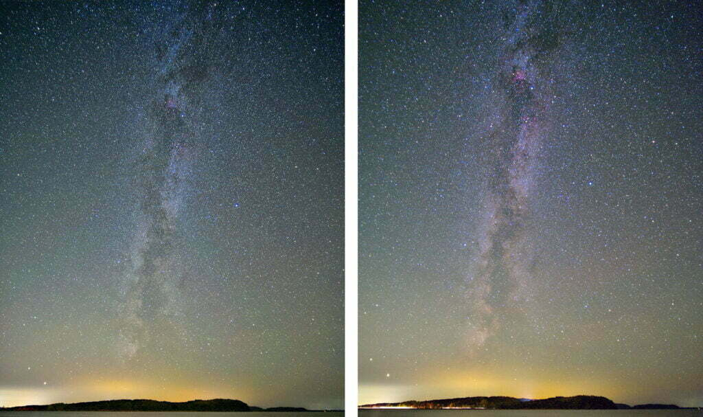 Normale Kamera vs. Astromodifizierte Kamera