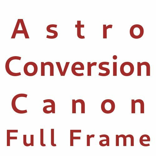 Astro Conversion Canon Full Frame